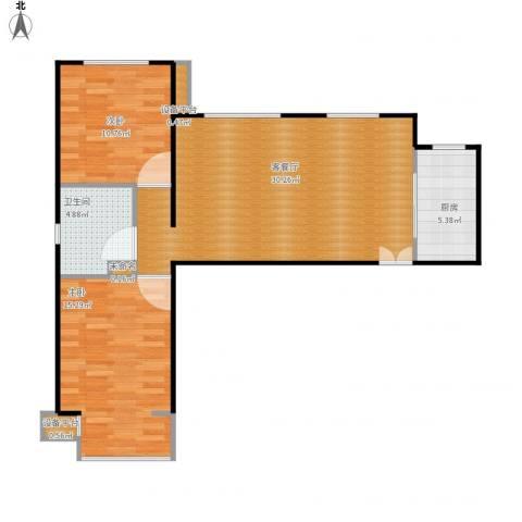 龙湖・大方居2室1厅1卫1厨91.00㎡户型图