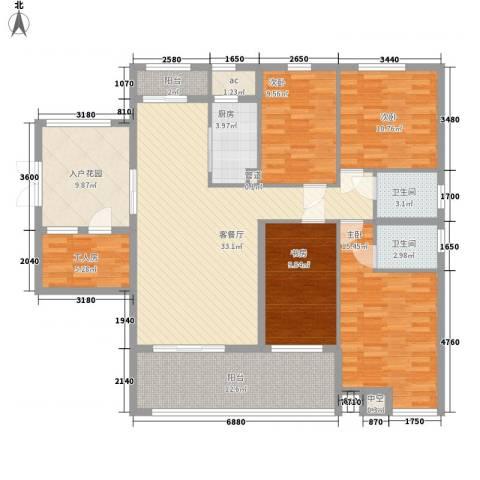 融汇江山4室1厅2卫1厨171.00㎡户型图