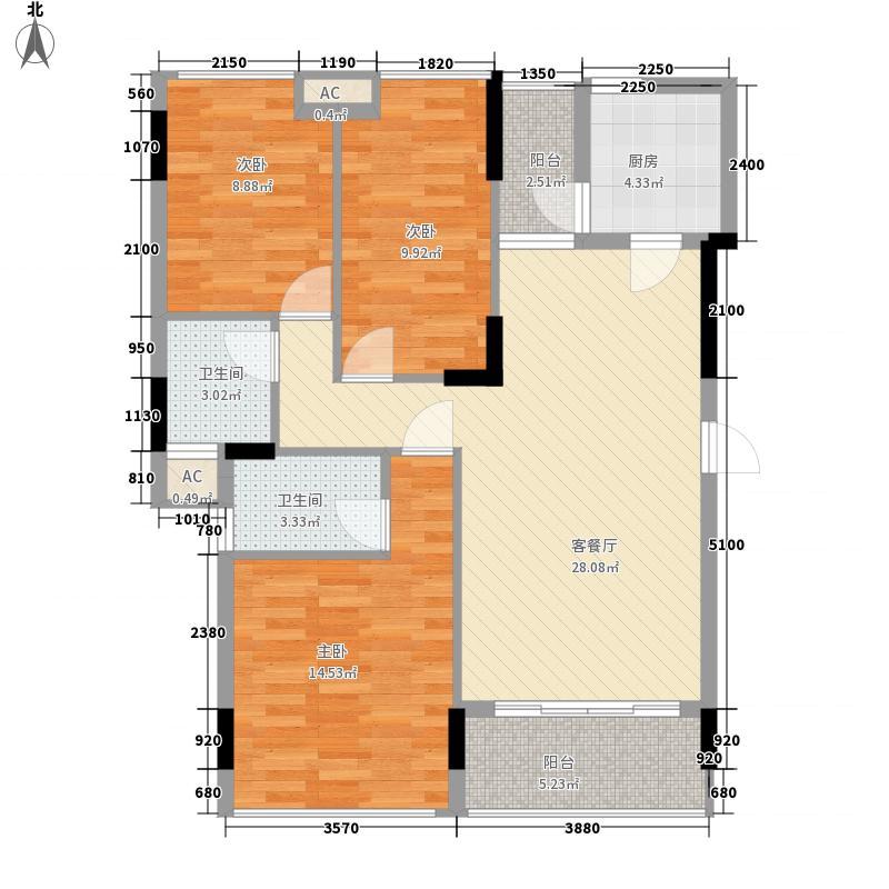 金地格林小城二期111.00㎡金地格林小城二期户型图格林小城二期户型图3室2厅2卫1厨户型3室2厅2卫1厨