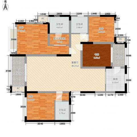 融侨观邸4室1厅3卫1厨175.00㎡户型图