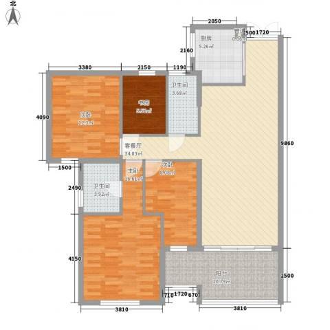 融汇江山4室1厅2卫1厨142.00㎡户型图