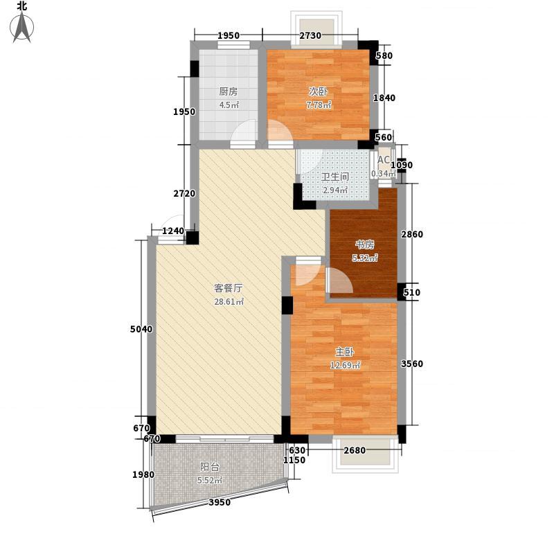 锦绣36597.94㎡J户型2室2厅1卫1厨