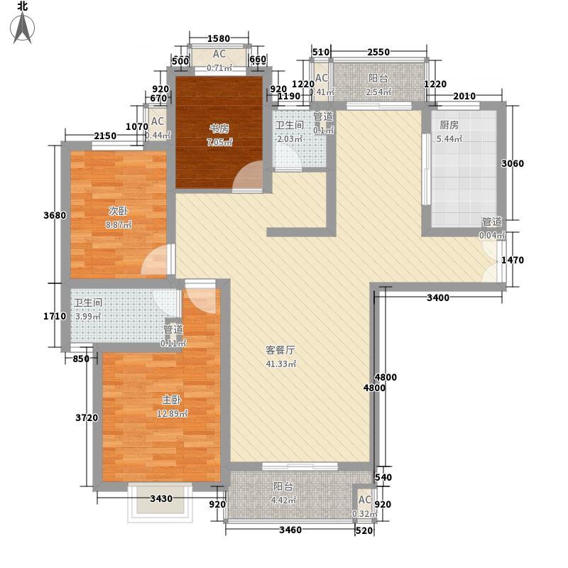 南洋博仕欣居133.27㎡上海康河原味(南洋博仕欣居)户型10室