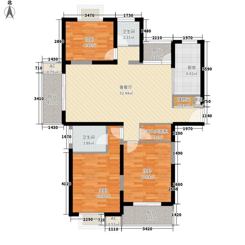 万里欣苑137.19㎡万里欣苑户型图2号楼房型图3室2厅1卫户型3室2厅1卫