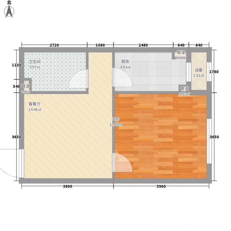 银亿格兰郡53.00㎡银亿格兰郡户型图G8户型1室1厅1卫户型1室1厅1卫