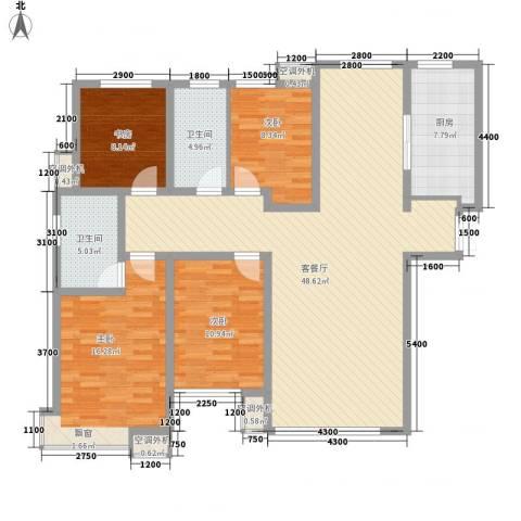和润香堤4室1厅2卫1厨162.00㎡户型图
