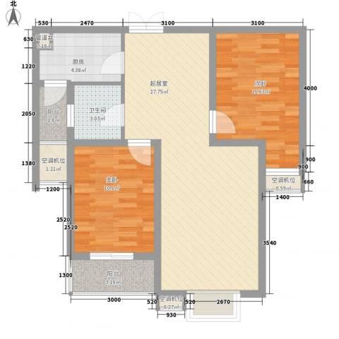尚层名筑2室0厅1卫1厨93.00㎡户型图