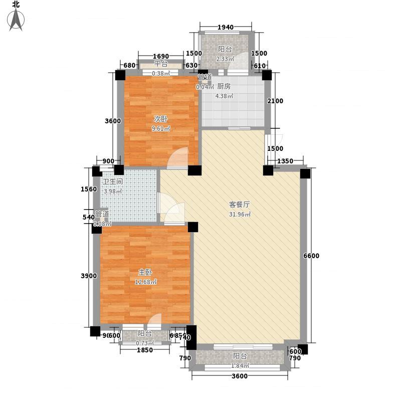 康桥小镇85.00㎡康桥小镇户型图7号、13号楼B户型2室2厅1卫1厨户型2室2厅1卫1厨
