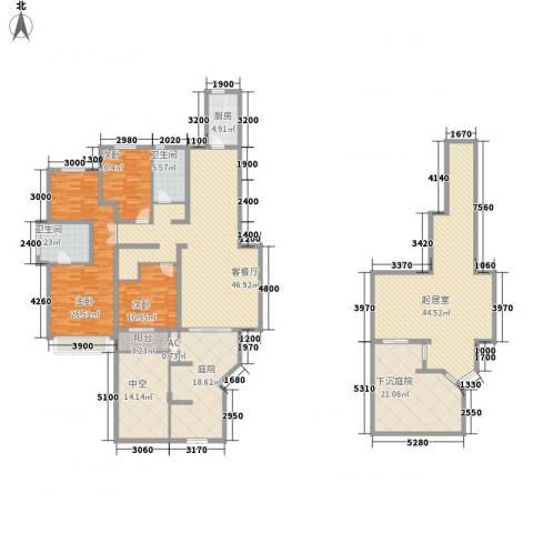 信达尚城3室1厅2卫1厨213.79㎡户型图