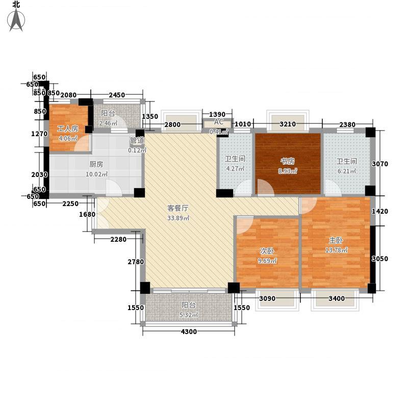 元一美邦国际142.00㎡元一美邦国际3室户型3室