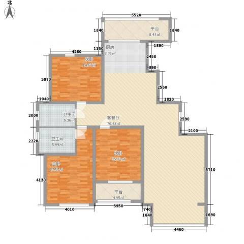 尚城国际3室1厅2卫0厨200.00㎡户型图