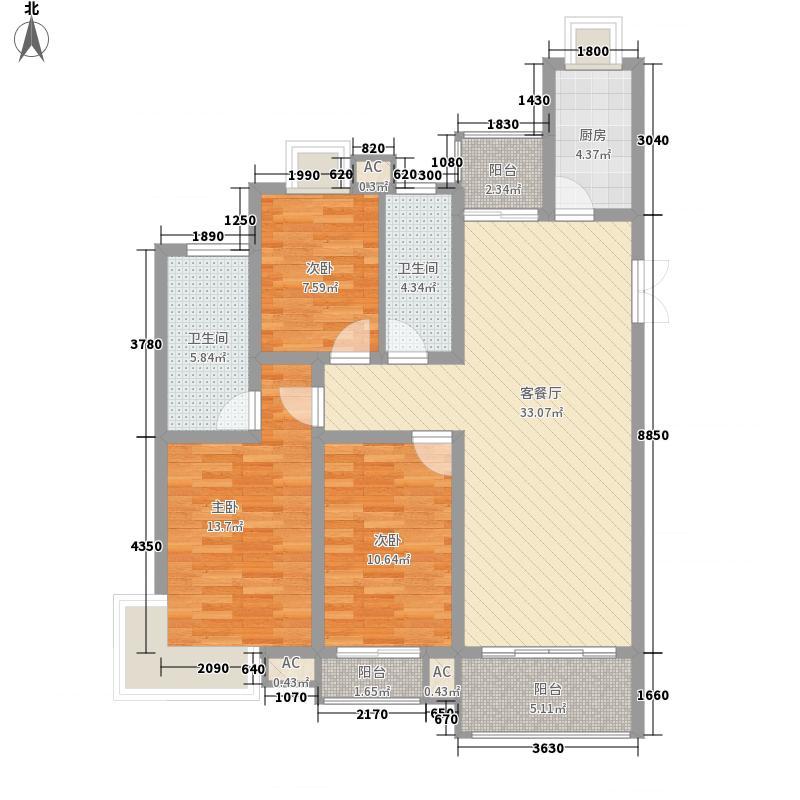 枫景家园枫景家园3室2厅2卫1厨户型3室2厅2卫1厨