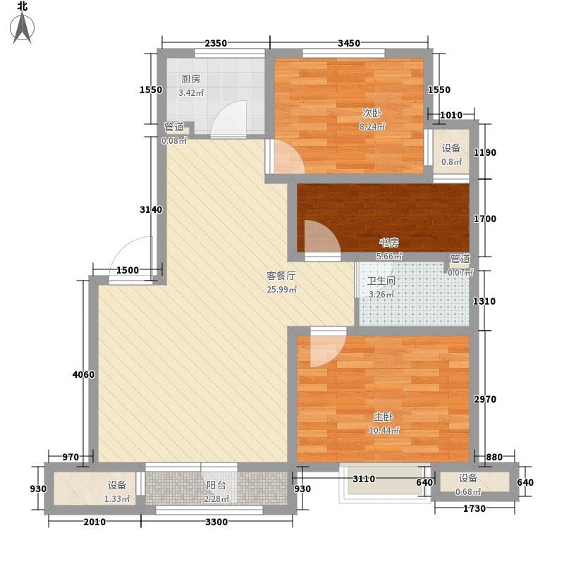 银亿格兰郡90.00㎡银亿格兰郡户型图A户型3室2厅1卫户型3室2厅1卫