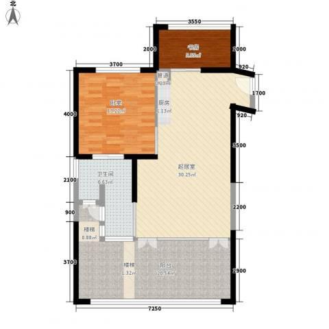 雅居乐清水湾星海传说1室0厅1卫0厨108.00㎡户型图