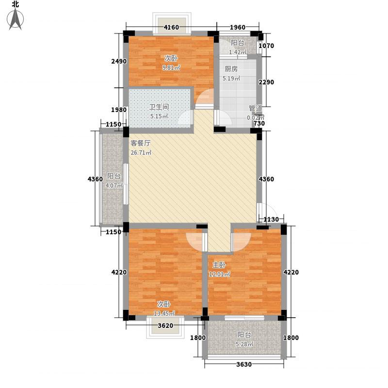 新都会联邦花园120.00㎡新都会联邦花园户型图3室2厅1卫1厨户型10室