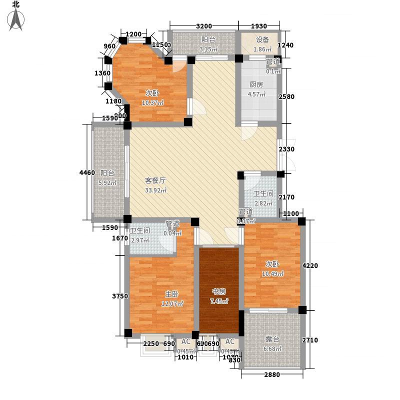 世纪金辉二期户型图4室2厅2卫