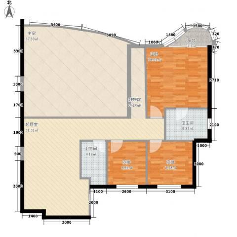 丽阳天下3室0厅2卫0厨159.00㎡户型图