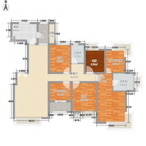 中海瀛台4室1厅2卫1厨180.00㎡户型图