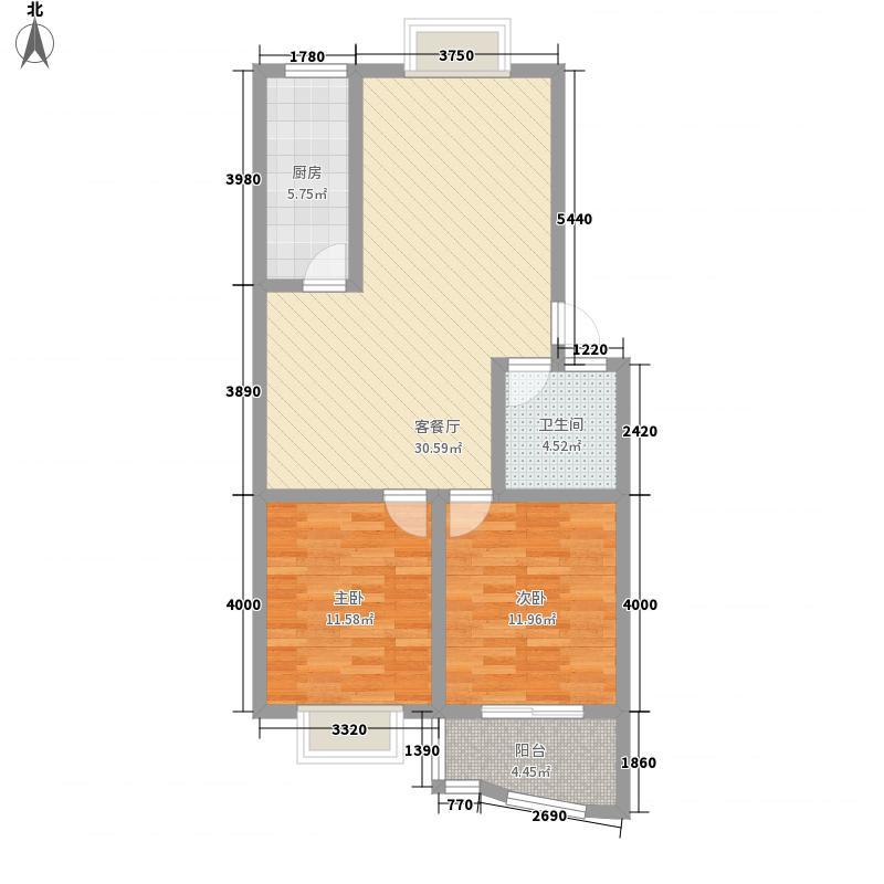 山水城97.80㎡山水城户型图F户型2室2厅户型2室2厅