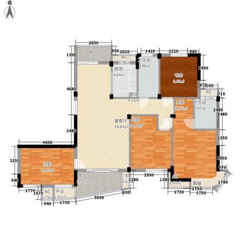 金域兰庭4室1厅2卫1厨162.00㎡户型图