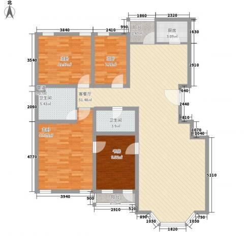 四季香山别墅4室1厅2卫1厨149.00㎡户型图