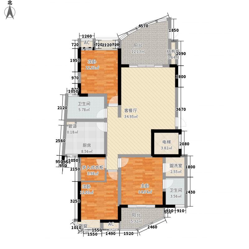 锦江国际城146.77㎡锦江国际城户型图5b3室2厅2卫2厨户型3室2厅2卫2厨
