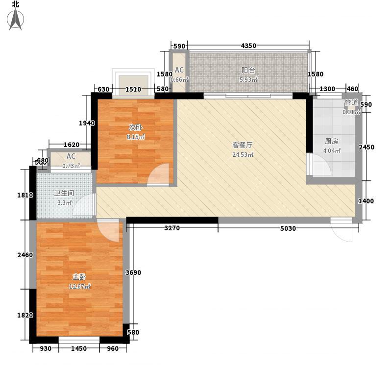 上海滩公馆03户型3室2厅2卫1厨