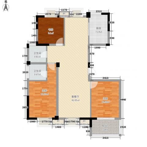 星盛家园3室1厅2卫1厨143.00㎡户型图