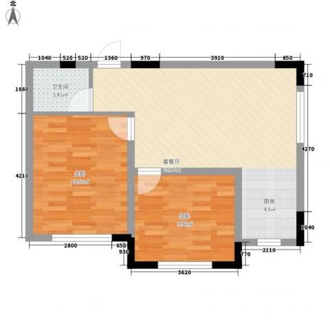 标点2室1厅1卫0厨79.00㎡户型图