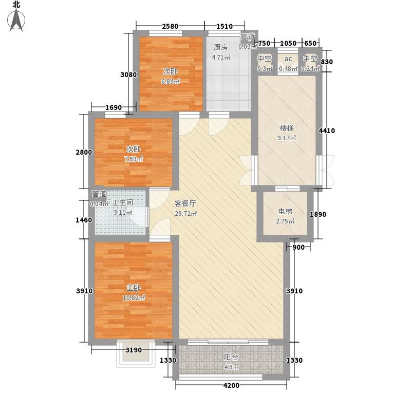文博锦苑118.45㎡L户型3室2厅1卫1厨