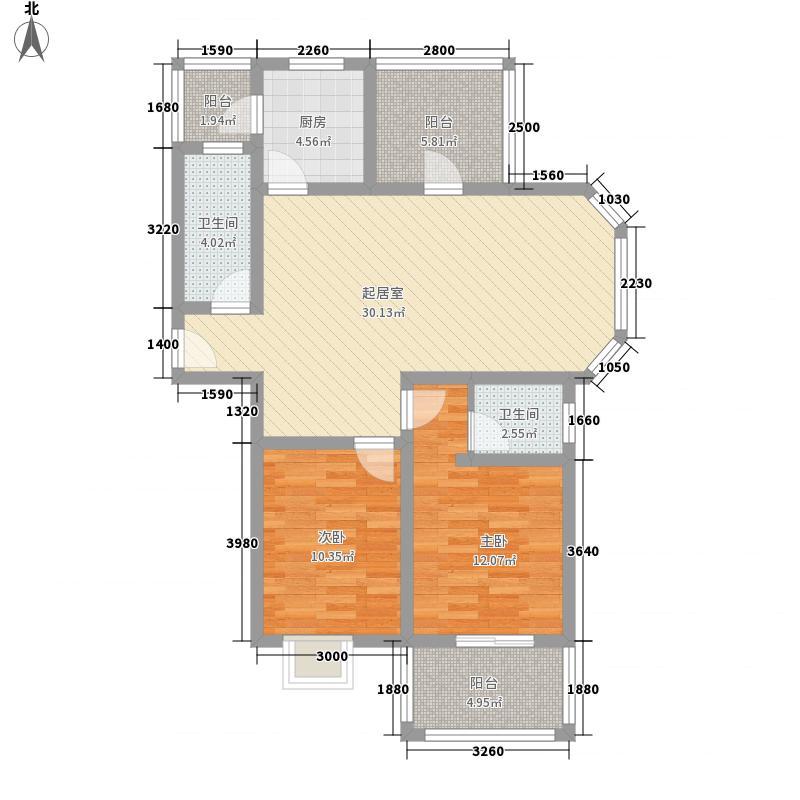 宽视界11.00㎡一期A户型3室3厅2卫1厨