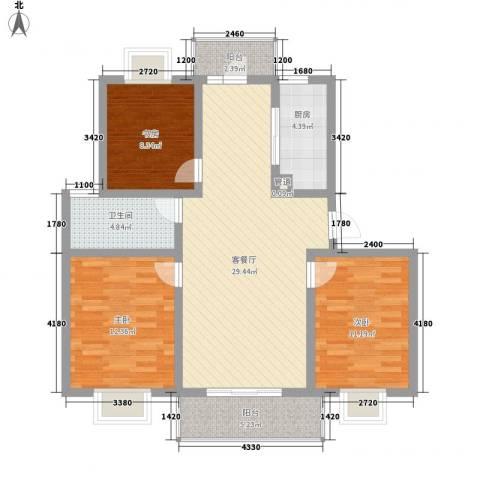 淮左郡庄园3室1厅1卫1厨113.00㎡户型图