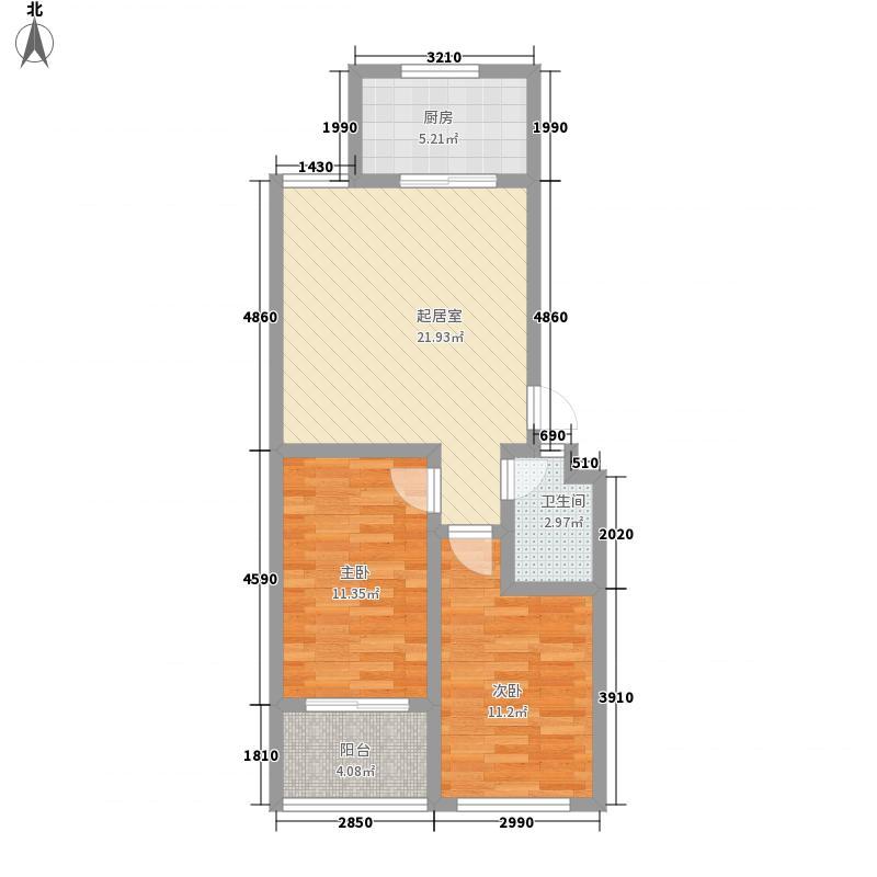 金水佳苑82.60㎡J户型2室2厅1卫