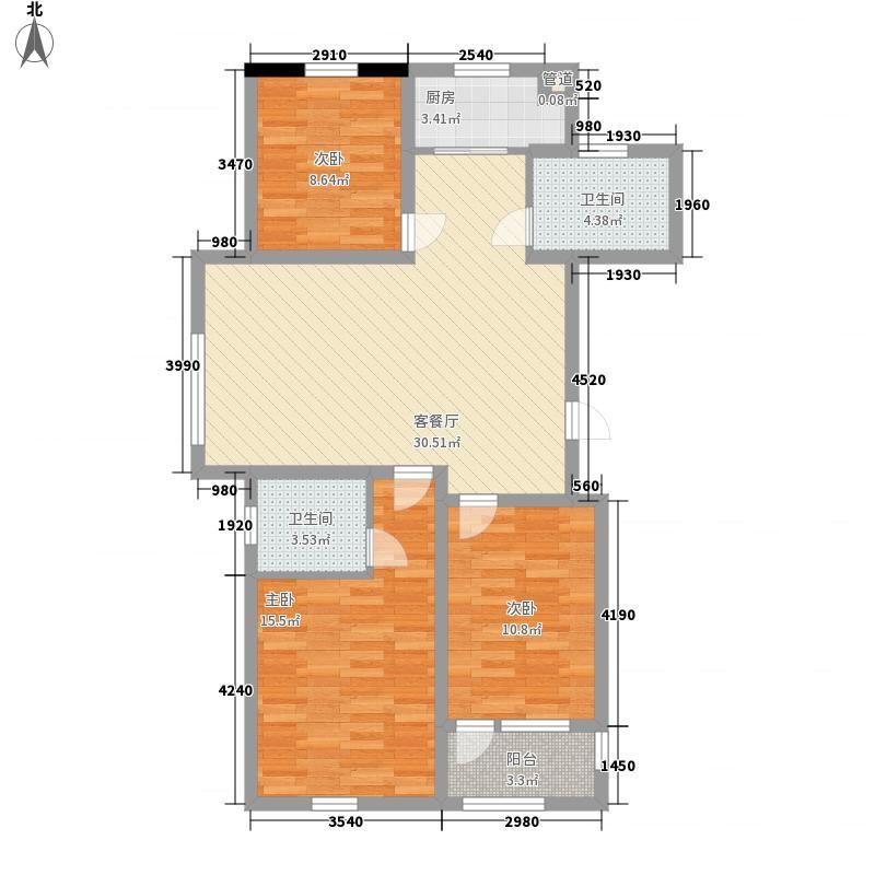金域蓝湾115.00㎡金域蓝湾户型图GB1户型3室2厅2卫1厨户型3室2厅2卫1厨