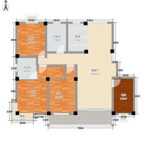 淮左郡庄园4室1厅2卫0厨182.00㎡户型图