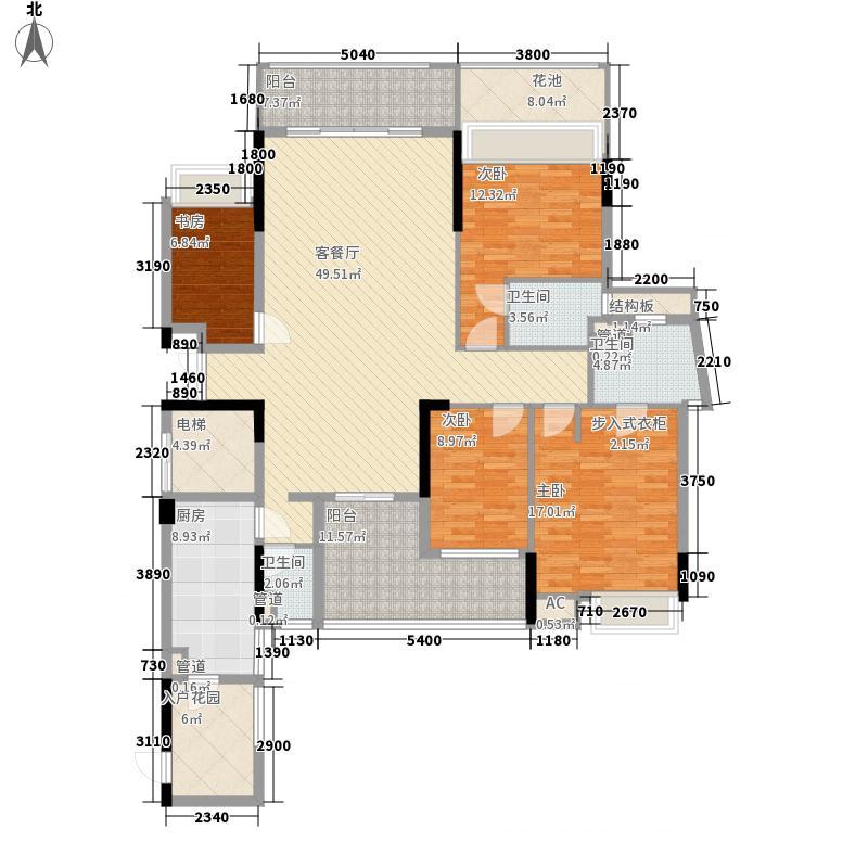 创鸿・林海尚都166.00㎡创鸿林海尚都户型图御林轩3-25奇数层4室2厅3卫户型4室2厅3卫