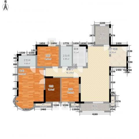 中惠沁林山庄4室1厅2卫1厨120.00㎡户型图