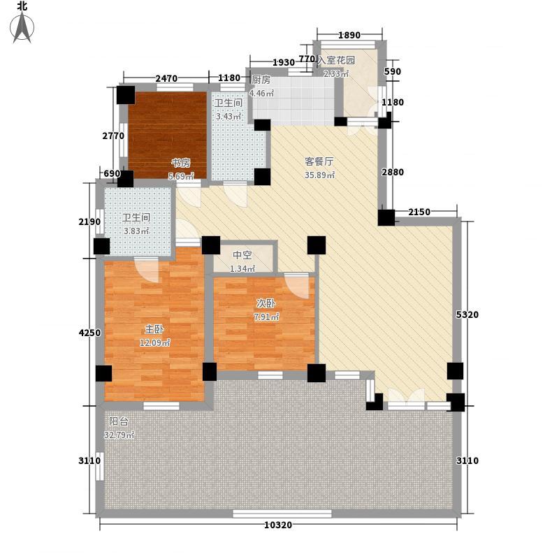 金域蓝湾148.00㎡金域蓝湾户型图花园洋房一层户型3室2厅2卫1厨户型3室2厅2卫1厨