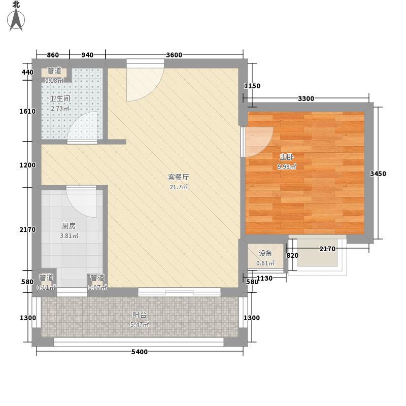 雅戈尔东湖花园户型1室1厅1卫1厨
