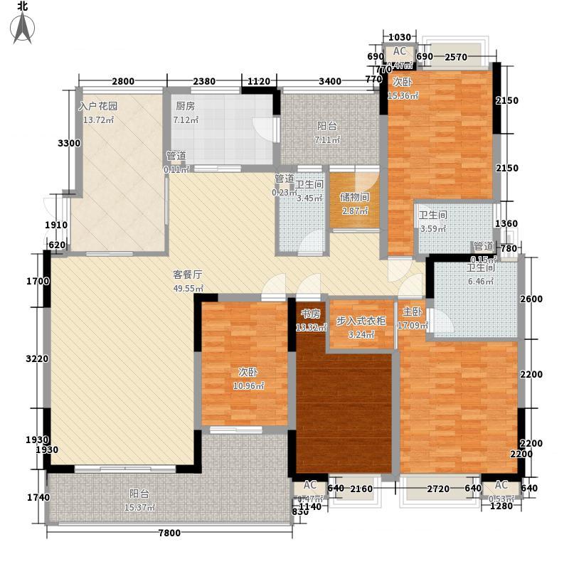中海万锦豪园197.00㎡中海万锦豪园户型图D2型01.165m24室2厅3卫1厨户型4室2厅3卫1厨
