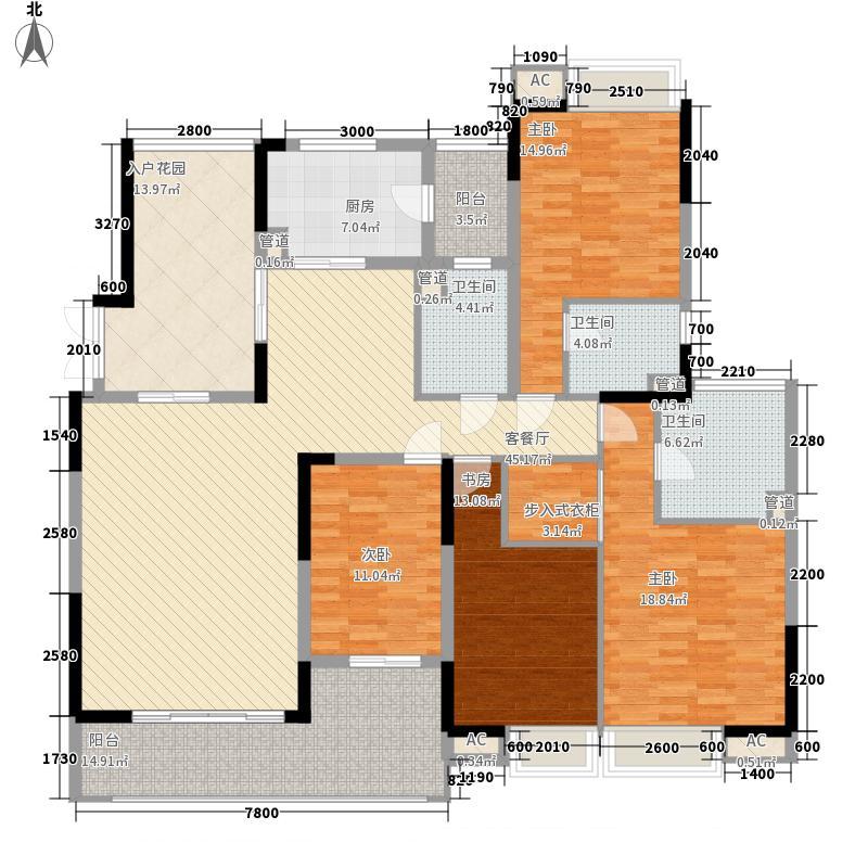 中海万锦豪园192.00㎡中海万锦豪园户型图D3型01.158m24室2厅3卫1厨户型4室2厅3卫1厨