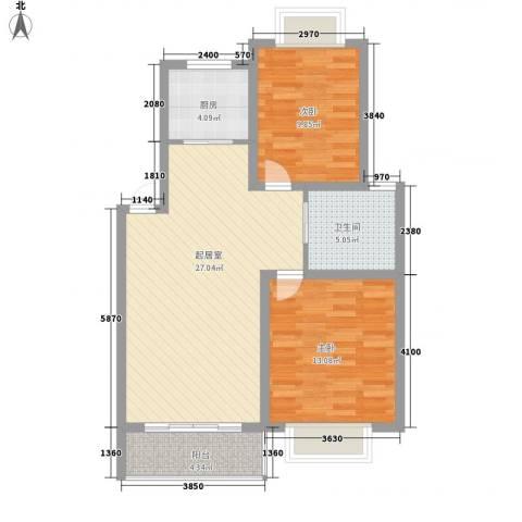 凤凰城2室0厅1卫1厨90.00㎡户型图