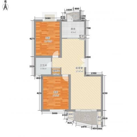凤凰城2室0厅1卫1厨96.00㎡户型图