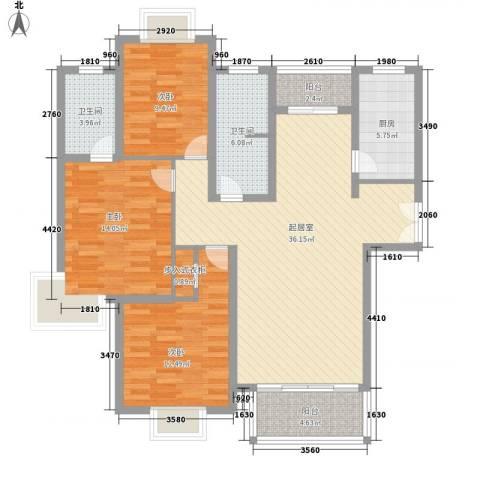 凤凰城3室0厅2卫1厨138.00㎡户型图