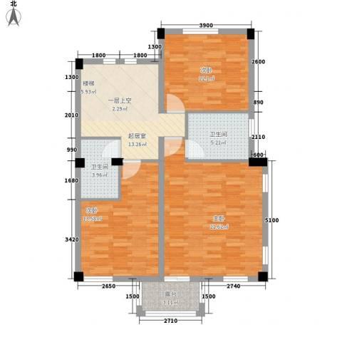 相郡3室0厅2卫0厨103.00㎡户型图