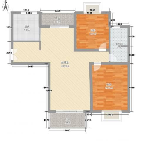 凤凰城2室0厅1卫1厨109.00㎡户型图