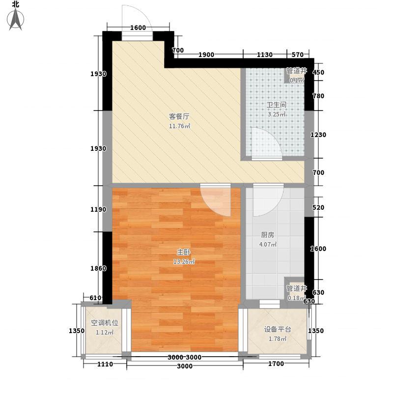 新湖明珠城46.17㎡新湖明珠城户型图22号楼C户型1室1厅1卫户型1室1厅1卫