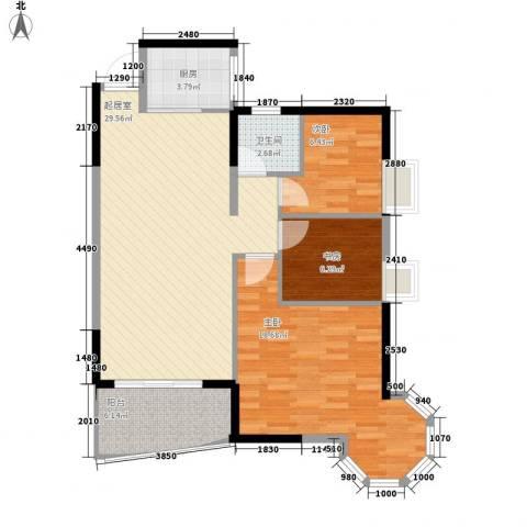 皇家公馆3室0厅1卫1厨95.00㎡户型图
