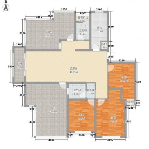 泉山逸品3室0厅2卫1厨148.69㎡户型图