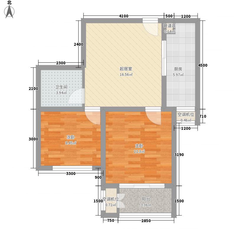 泉山逸品7.20㎡标准层D2-2户型2室1厅1卫1厨